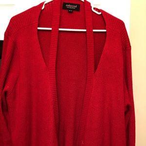 Bundle: 2 Embossed x Lane Bryant Cardigan Sweaters